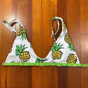 Zaful Swim - Adorable Zaful pineapple bathing suit bikini top!